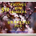50 things to be grateful for.
