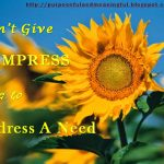 A giver's  heart