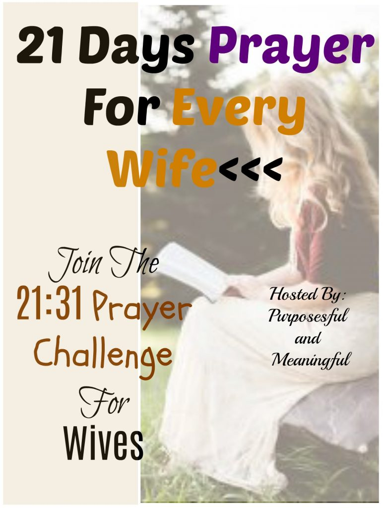 21 Days Prayer For Wives